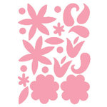 Heidi Swapp - Glossy Chipboard - Flowers - Pink, CLEARANCE