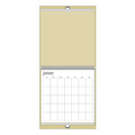 Heidi Swapp - 12x12 Calendar - Natural - Brown