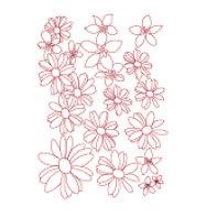 Heidi Swapp - Metallic Rub-Ons - Daisies - Pink, CLEARANCE