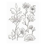 Heidi Swapp - Metallic Rub-Ons - Flowers - Silver, CLEARANCE