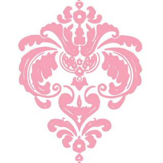 Heidi Swapp - Rolled Stickers - Clear - Damask - Pink, CLEARANCE