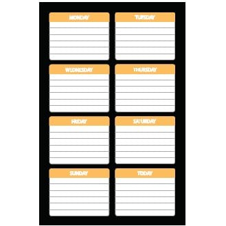 Heidi Swapp - Journaling Spots - Days of the Week - Clementine