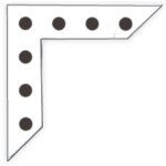 Heidi Swapp - Photo Corners - Extra Large - XL - Black Dots, CLEARANCE