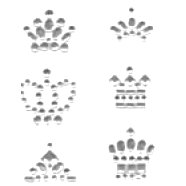 Heidi Swapp - Bling Crowns - Clear, CLEARANCE