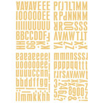 Heidi Swapp - Metallic Chipboard Alphabet - Center of Attention - Gold, CLEARANCE