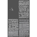 Heidi Swapp - Rub Ons - Alphabet - Print - White