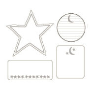 Heidi Swapp - Journaling Spots - Mini - Stars & Moon, CLEARANCE