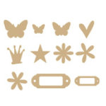 Heidi Swapp - Chipboard Variety Pack - Mini - Raw, CLEARANCE