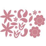 Heidi Swapp - Metallic Chipboard - Shapes - Flowers - Pink, CLEARANCE