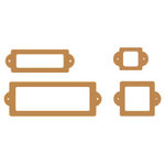 Heidi Swapp - Chipboard - Metallic Shapes - Label Holder - Copper, CLEARANCE