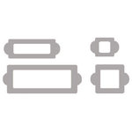 Heidi Swapp - Chipboard - Metallic Shapes - Label Holder - Silver, CLEARANCE