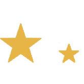 Heidi Swapp - Metallic Chipboard - Shapes - Stars - Gold, CLEARANCE