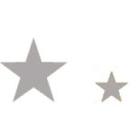 Heidi Swapp - Metallic Chipboard - Shapes - Stars - Silver