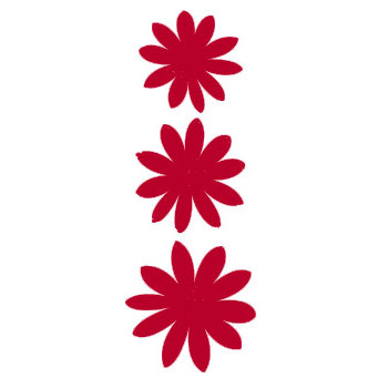 Heidi Swapp - Glitter Florals - Red, CLEARANCE