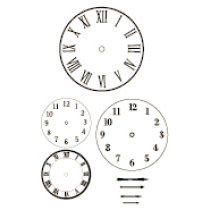 Heidi Swapp - Clear Stamps - Images - Clock