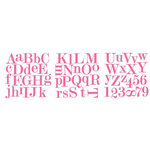 Heidi Swapp - Runway Collection - Foam Board Alphabet, CLEARANCE