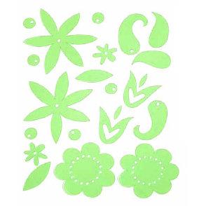 Heidi Swapp - Gel Blossoms - Kiwi, CLEARANCE