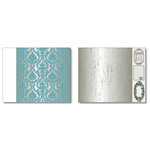 Heidi Swapp - Dream Dining Room Collection - 12 x 15 Double Sided Paper with Die Cuts - Wallpaper, CLEARANCE