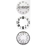 Heidi Swapp - 6 x 6 Transparency Overlays - Mini Clocks, CLEARANCE