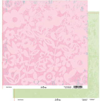 Heidi Swapp - Fresh and Free Collection - 12 x 12 Double Sided Paper - Fresh Flowers, CLEARANCE