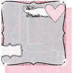 Heidi Swapp - Love Notes Collection - 12 x 12 Double Sided Paper - Loved, CLEARANCE
