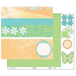 Heidi Swapp - Summer Sun Collection - 12 x 15 Double Sided Paper with Die Cuts - Borders, CLEARANCE