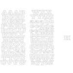 Heidi Swapp - Invisible Alphabet Stickers - Downtown Dot - White