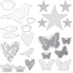 Heidi Swapp - Invisibles Collection - Self Adhesive Inkable Chipboard Shapes - Shapes
