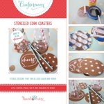 Hazel and Ruby - Crafternoon Collection - Kits - Stenciled Cork Coasters