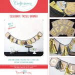 Hazel and Ruby - Crafternoon Collection - Kits - Celebrate Tassel Banner