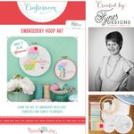Hazel and Ruby - Crafternoon Collection - Kits - Embroidery Hoop Art