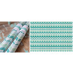 Hazel and Ruby - Wrap it Up - Lightweight Paper Roll - Crazy for Chevy - Teals