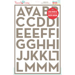 Hazel and Ruby - Stencil Mask - 12 x 18 - Broadside Alphabet