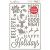 Hazel and Ruby - Christmas - Stencil Mask - 12 x 18 - Holiday Shapes Words and Quotes
