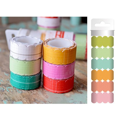 Hazel and Ruby - Scallop Away - Washi Tape - Swanky Solids
