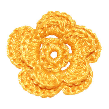 Imaginisce - Out On A Whim Collection - Crocheted Blossoms - Honeycomb