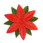 Imaginisce - Candy Cane Lane Collection - 3.5 Inch Poinsettia Vendetta - Red, CLEARANCE