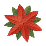 Imaginisce - Candy Cane Lane Collection - 3.5 Inch Poinsettia Vendetta - Cinnamon, CLEARANCE