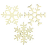 Imaginisce - Candy Cane Lane Collection - Foam Stickers - Snowflake Doubletake - White