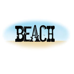 Imaginisce - A Shore Thing Collection - Clear Acrylic Stamps - Beach