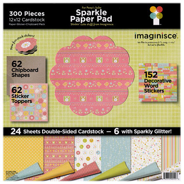 Imaginisce - For Peep's Sake - Sparkle Paper Pad