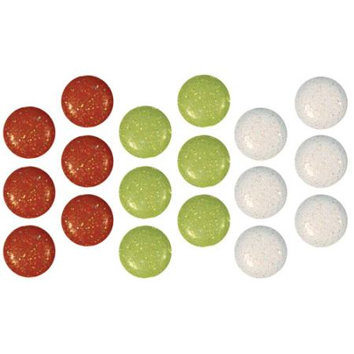 Imaginisce - Snowy Jo Winter Christmas Collection - 12mm Mixed Glitter Brads - Gumdrop, CLEARANCE