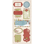 Imaginisce - Snowy Jo Winter Christmas Collection - 3 Dimensional Stickers - Tinsel Tags, CLEARANCE