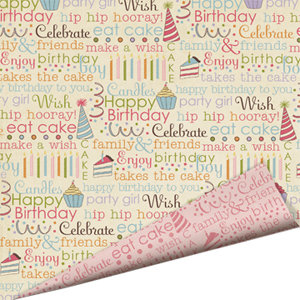 Imaginisce - All Kinds of Happy Collection - 12x12 Double Sided Glitter Paper - Chatty Cake, Chatty Cake - Birthday