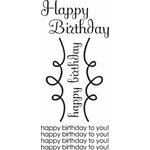 Imaginisce - All Kinds of Happy Collection - Snag 'em Stamps - Happy Birthday- Clear - Acrylic - Birthday