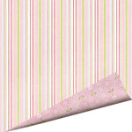 Imaginisce - Fairest of Them All Collection - 12 x 12 Double Sided Glitter Paper - Sweet Satin Ribbons