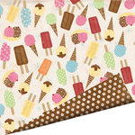 Imaginisce - Summer Cool Collection - 12 x 12 Double Sided Gloss Embossed Paper - Chocolate Double Dip