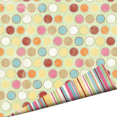Imaginisce - Summer Cool Collection - 12 x 12 Double Sided Gloss Embossed Paper - Bubblegum Blast, CLEARANCE