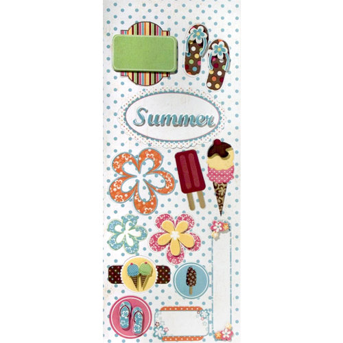 Imaginisce - Summer Cool Collection - 3 Dimensional Stickers - Double Decker, CLEARANCE