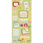 Imaginisce - Teachers Pet Collection - Glossy Chipboard Stickers - I Love School, BRAND NEW